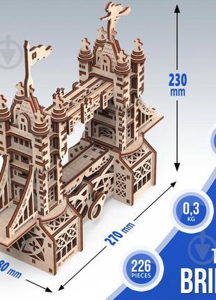Деревянный 3D-конструктор Mr.Playwood Тауэрский мост S механич...