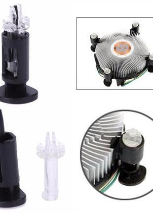 4x Крепление клипса ножка радиатора кулера LGA 775 1150 1155 1...