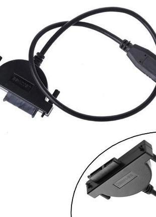 Переходник USB 2.0 - Slimline SATA 13pin 6+7pin CD/DVD привода...