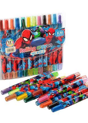 Детские мелки для рисования MK 4392 пастельные Spider Man