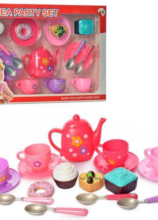 Детская игрушечная посуда Metr+ чайный сервиз на 4 персоны, со...