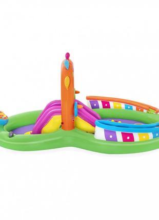 Детский игровой надувной центр Bestway BW 53117 с горкой