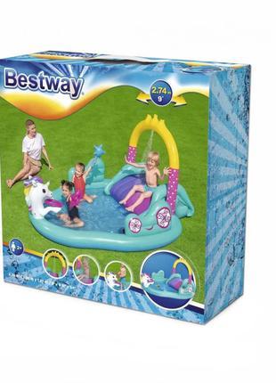 Детский игровой надувной центр Bestway BW 53097 с горкой