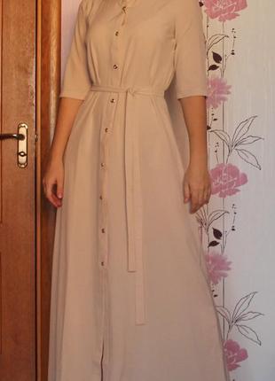 Платье в пол. платье рубашка