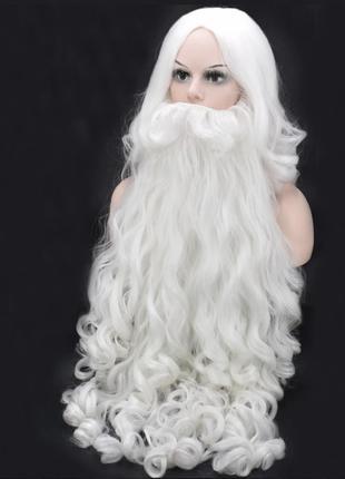 Парик и борода (80 см) Деда Мороза