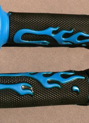Ручки руля резиновые JY-A синие