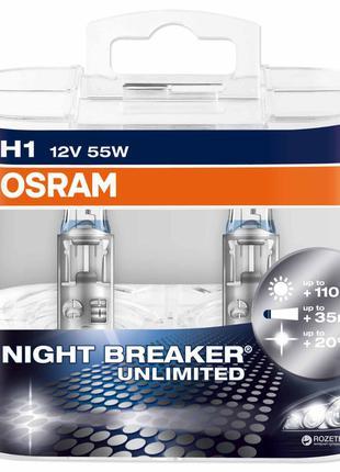 Автомобильная галогенная лампа OSRAM NIGHT BREAKER UNLIMITED 6...