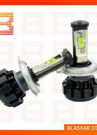 Комплект светодиодных автоламп LED V18 Turbo H4, 40 W (пара) (...
