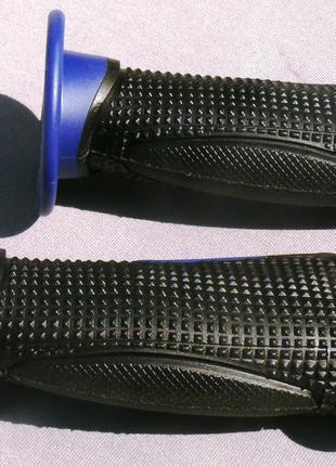 Ручки руля резиновые SH6002 синие