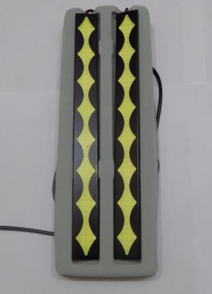 Светодиодные LED дневные ходовые огни 70 диодов в железном кор...