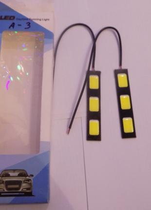 Светодиодные LED дневные ходовые огни 24 диодов в силиконовом ...