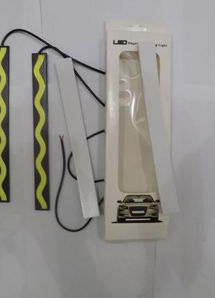 Светодиодные LED дневные ходовые огни 60 диодов в железном кор...