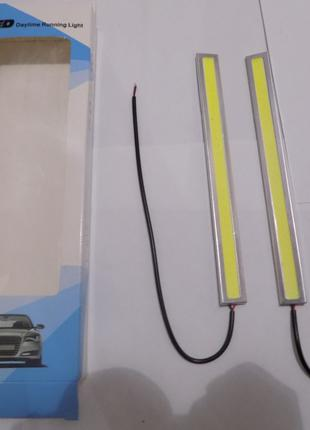 Светодиодные LED дневные ходовые огни 24 диодов в железном кор...
