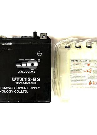 Аккумулятор 12V 10Аh UTX12-BS 135/85/130 мм (заливной), OUTDO,...