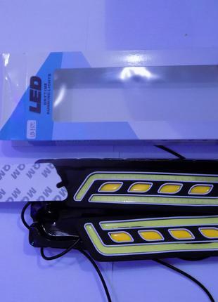 Светодиодные LED дневные ходовые огни 66 диодов в силиконовом ...