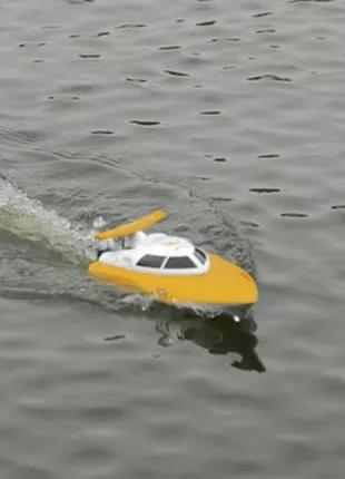 Катер на радиоуправлении 2,4GHz Fei Lun FT007 Racing Boat, желтый