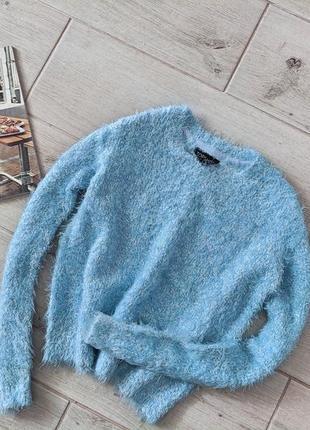 Стильный укороченный кроп топ свитер травка