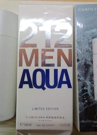 ❗оригинал ❗100 мл carolina herrera 212 men aqua туалетная вода