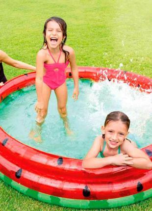 """Надувной бассейн для детей от Intex """"Арбуз"""" 168х38см"""