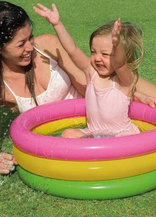 Надувной бассейн для самых маленьких от Intex 61х22см