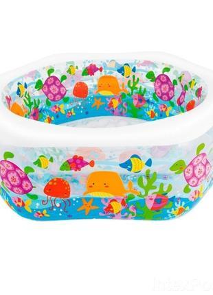 """Детский надувной бассейн Intex """"Океанский риф"""" 191х178х61см"""