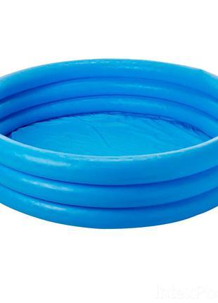 """Надувной бассейн для детей от Intex """"Синий Кристал"""" 168х38см"""