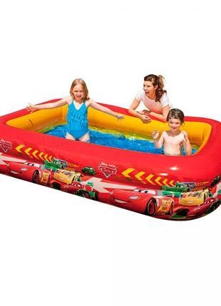 Детский надувной бассейн «Тачки» Intex 262х175х56см