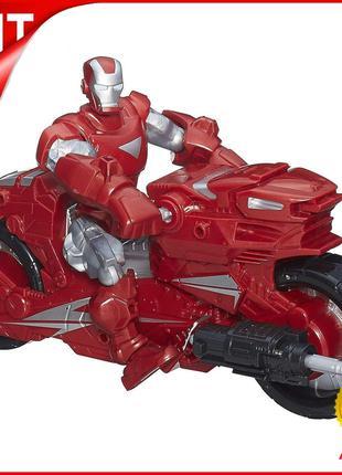 Разборная игровая фигурка Hasbro Железный человек с мотоциклом...