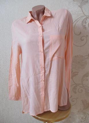 Рубашка вискозная персиковая/вискоза