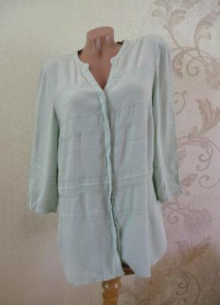 Блуза/рубашка мятная вискозная/вискоза/большой размер/xl-3xl
