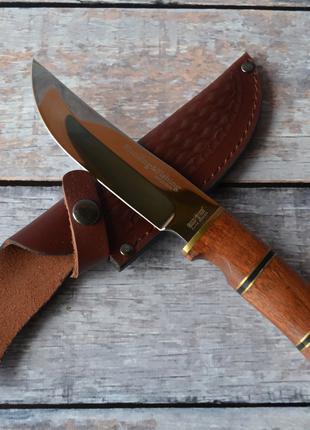 Нож охотничий Сокол, с кожаным чехлом в комплекте