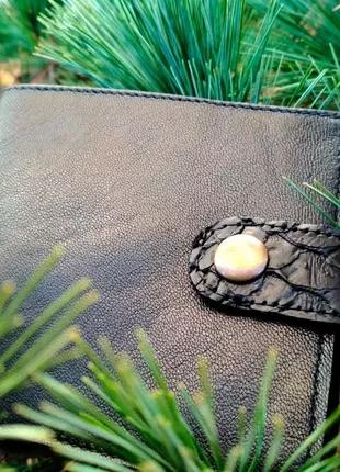 Портмоне, кошелек, унисекс, натуральная кожа