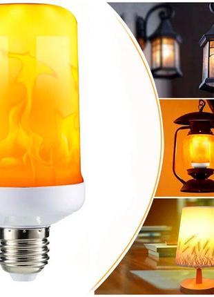 Лампа с эффектом пламени огня LED Flame Bulb А+ E27 / Лампочка...