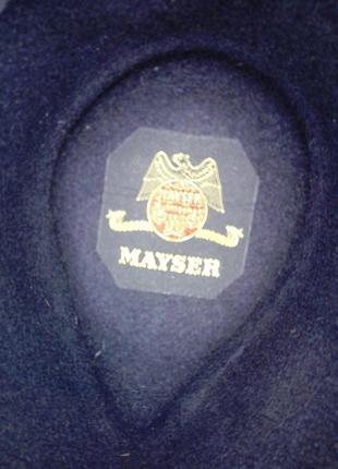 Шикарная фетровая шляпа фирмы mayser черная новая
