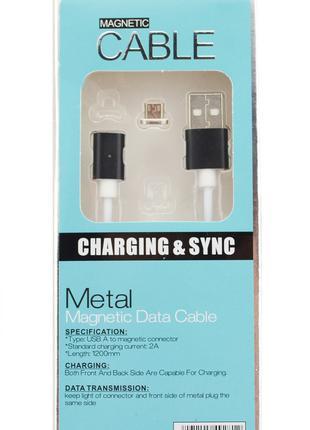 Магнитный кабель для Android Magnetic micro USB черный