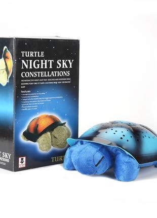 Светильник звездное небо, ночник проектор Черепаха, со звуком,...