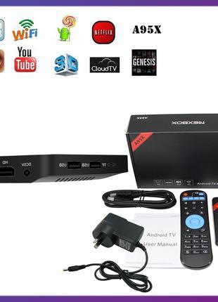 Приставка Android TV Box NEXBOX A95X. 1 Гб / 8 Гб. Amlogic S905