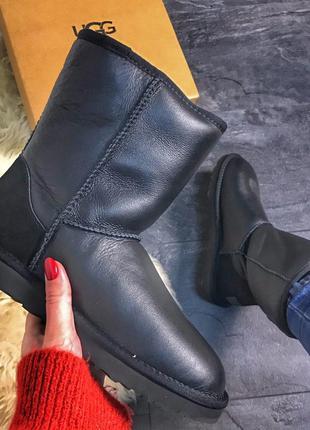 Ugg Classic Black Leather (Черный)
