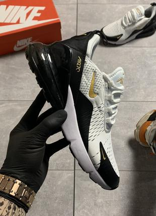 Nike Air Max 270 Black Gold (Белый Черный)
