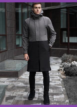 Мужское пальто PBV Soft Shell Coat Bali (Grey-Black)