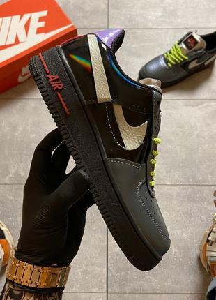 Nike Air Force 1 Vandalized Iridescent Green Black (Черный)