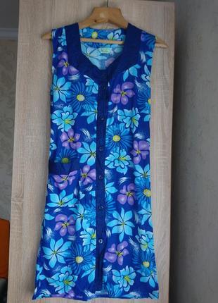 Женский халат с коротким рукавом
