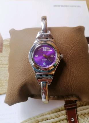 Эксклюзивные Женские swatch irony stainless steel patented water-