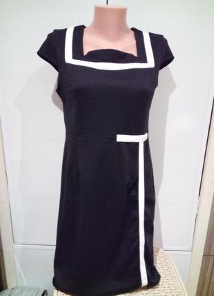 Черное платье миди класическое