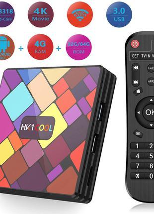 Медиаплеер приставка Android TV Box HK1 COOL COLOR 4GB/32GB (1...