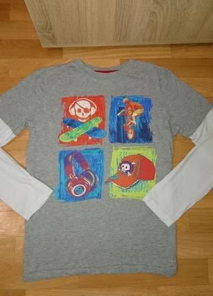 Кофта футболка с длиным рукавом