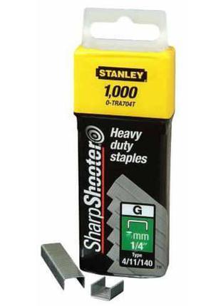 Скобы тип G 12мм (Степлер 6-TR250, 6-TR151Y) 1000шт Stanley 1-...