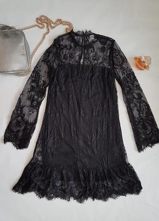 Красивое кружевное вечернее платье h&m