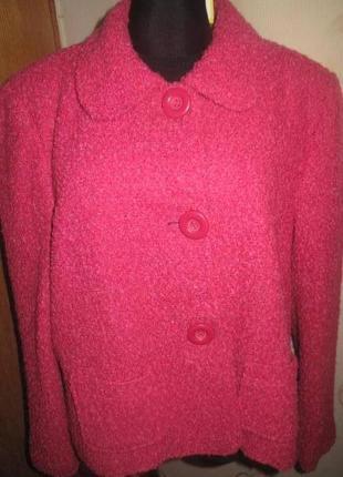 Рожеве пальто р50 на гудзички