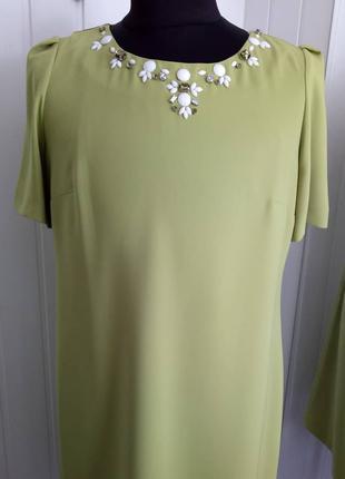 Салатовое деловое платье